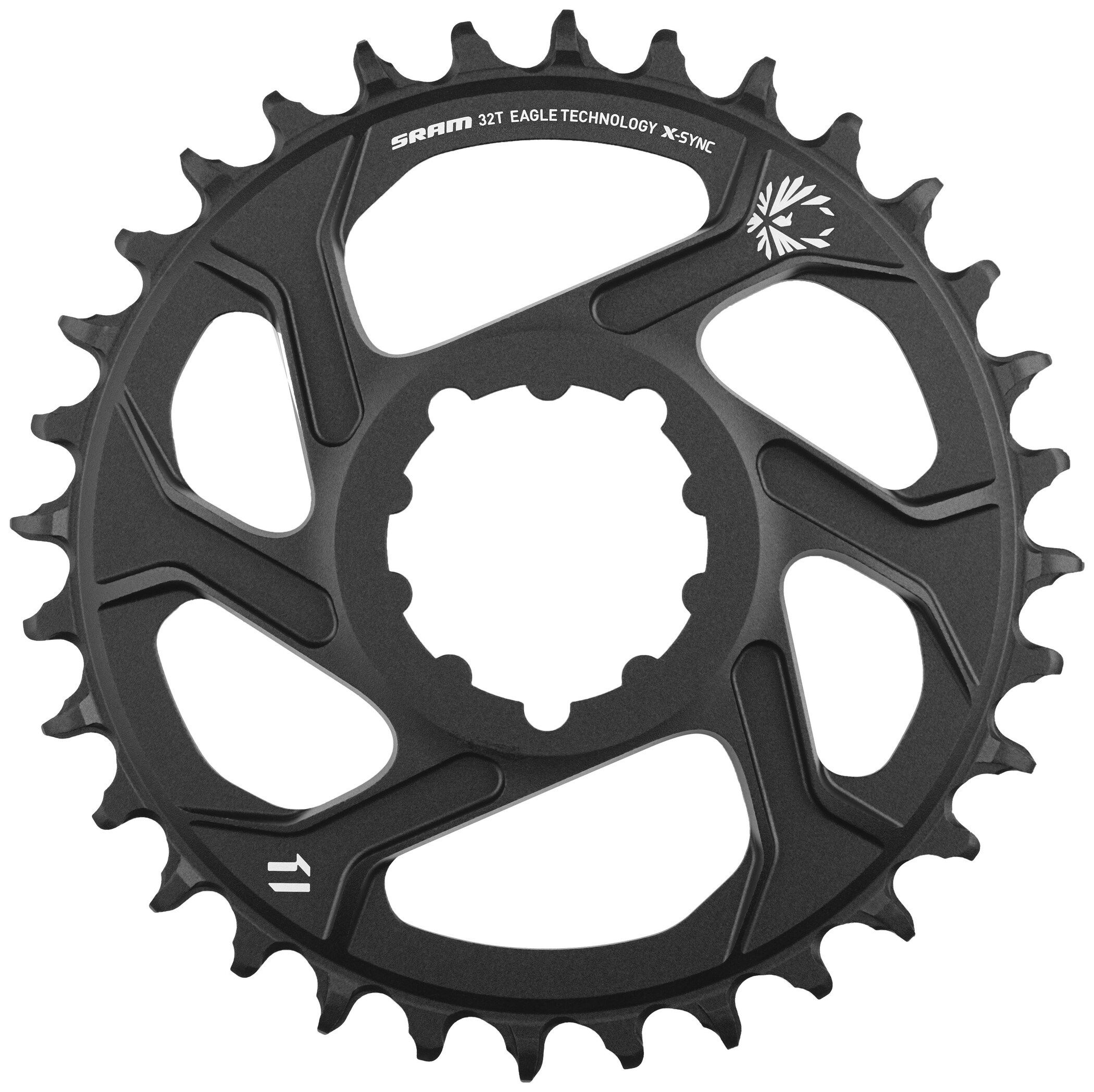 SRAM X-Sync 2 Klinge Direct Mount/Aluminium 12-speed, black (2019) | chainrings_component