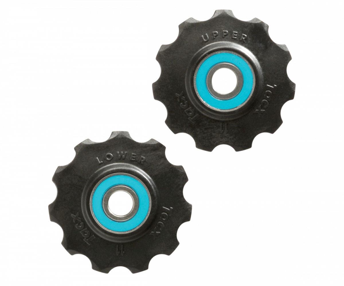 Tacx Ceramic Jockey Wheels 11 tænder, black/blue (2019)   Gear, krank og klinger > Tilbehør
