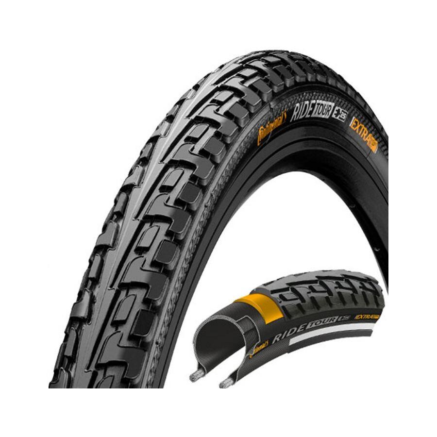 "Continental Ride Tour Dæk 26 x 1 1/2 x 2 "" trådkant, black/black (2019) | Tyres"