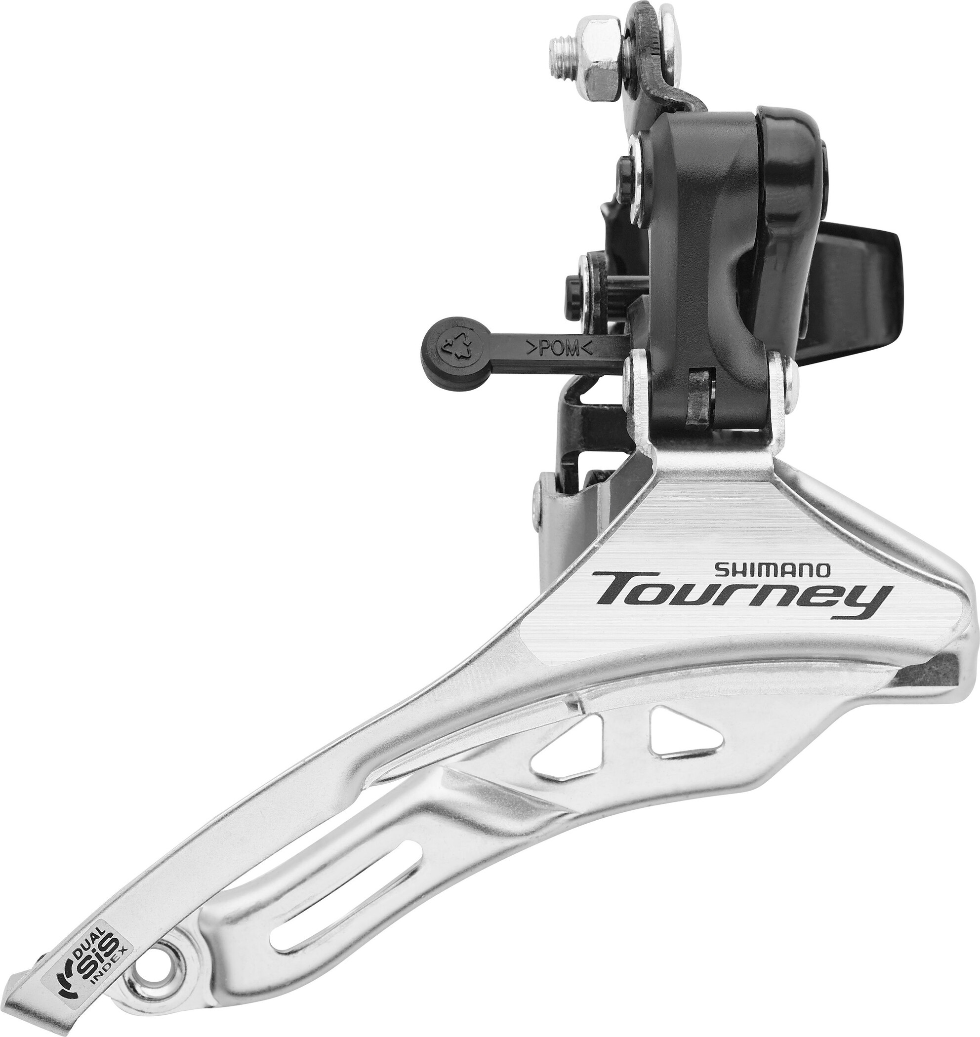 Shimano Tourney FD-TY300 Forskifter høj 3x6-/7-speed Down Pull, black/silver (2019) | Front derailleur
