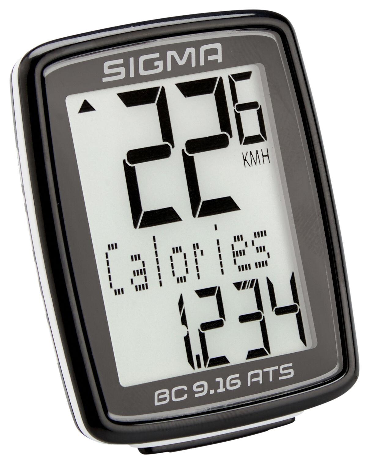Ordinateur de vélo Sigma Sport BC 7.16//ats sans fil Noir