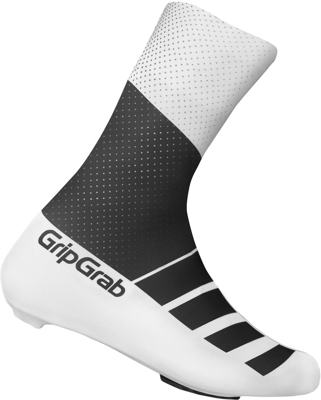 GripGrab RaceAero TT Raceday Lycra Skoovertræk, black/white (2019) | shoecovers_clothes