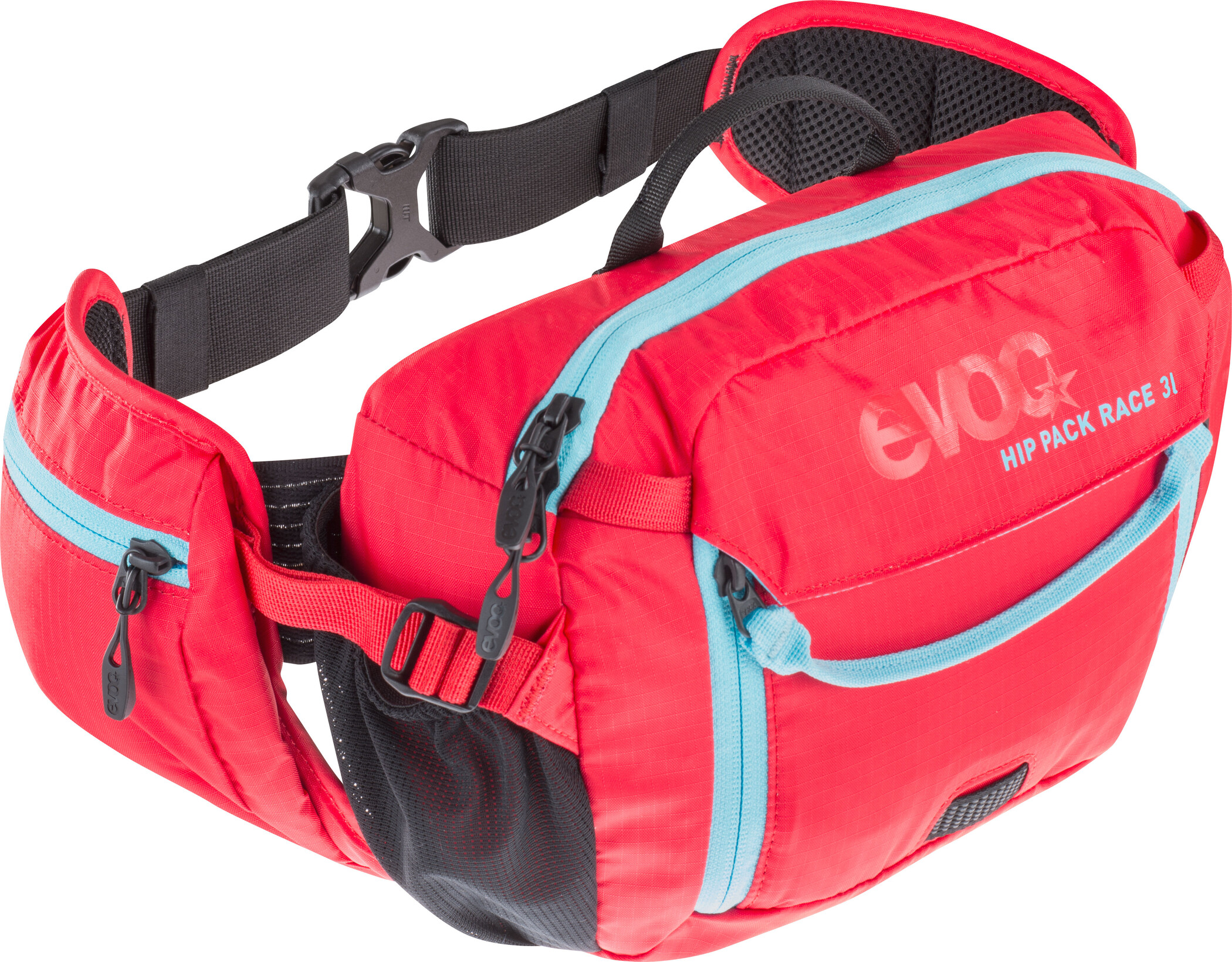 EVOC Hip Pack Race Drikkebælte 3 L, red-neon blue | Waist bags