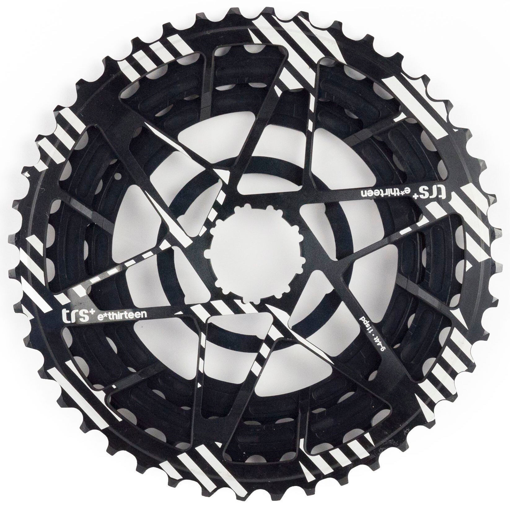 e*thirteen Aluminum diced Sprockets 32-38-44 for TRS + cassette 11-compartment, black | item_misc