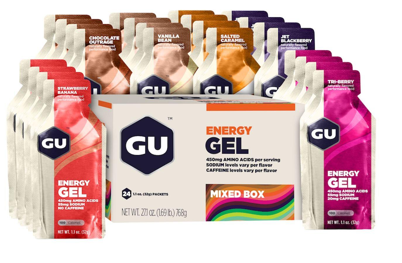 GU Energy Gel Box 24x32g, Mixed   Energy gels
