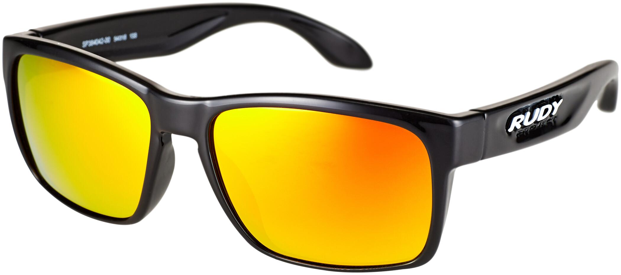 Rudy Project Spinhawk Slim Cykelbriller, black gloss - rp optics multilaser orange | Briller