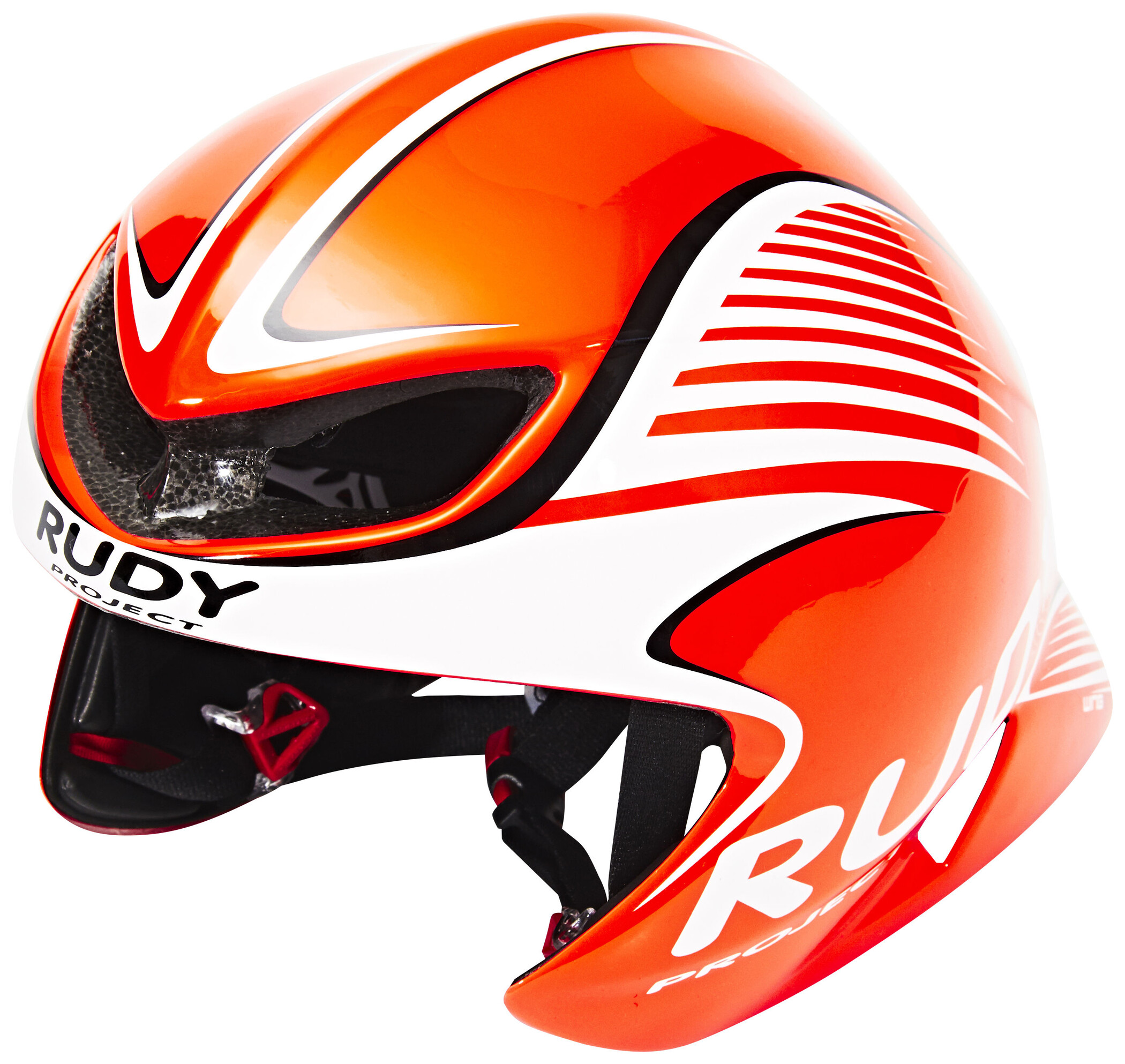 Rudy Project Wing57 Cykelhjelm, red fluo / white (shiny) (2019) | Helmets