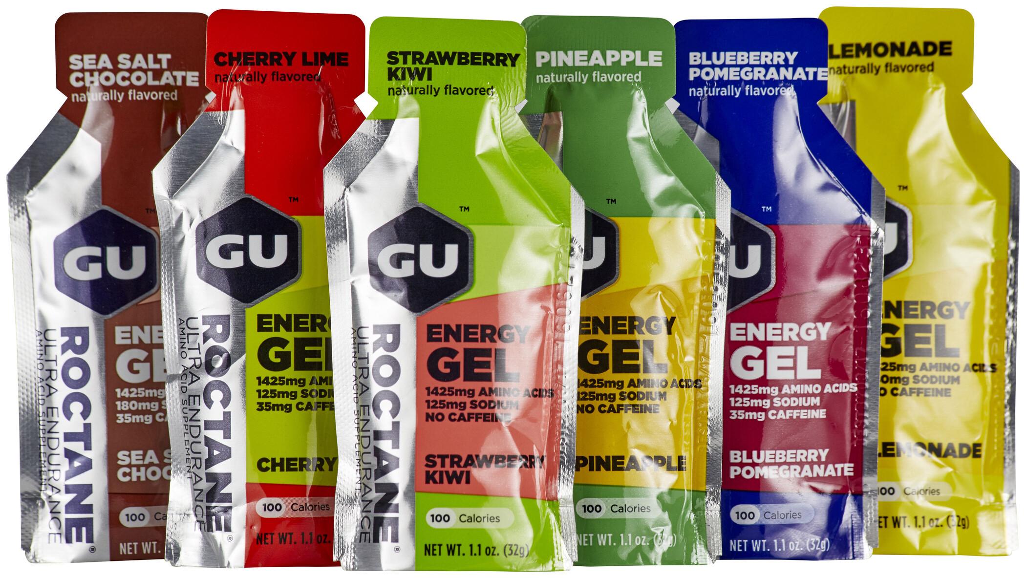 GU Energy Roctane Energy Gel Test Package 6x32g, Mixed | Energigels