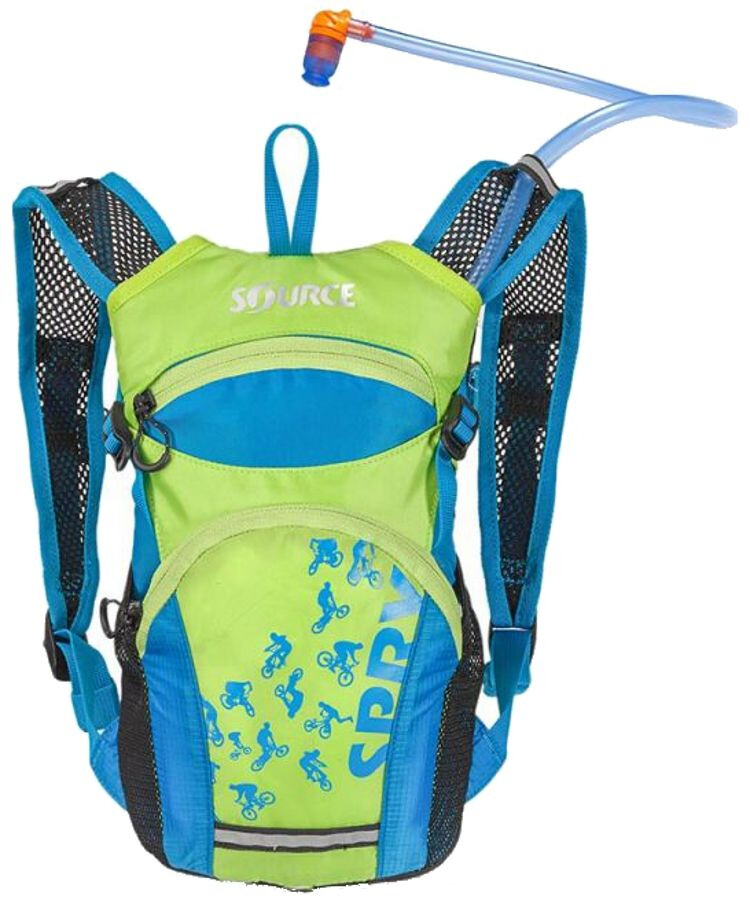 SOURCE Spry Hydration Pack 1,5L Kids, light blue/green (2019) | Rygsæk og rejsetasker