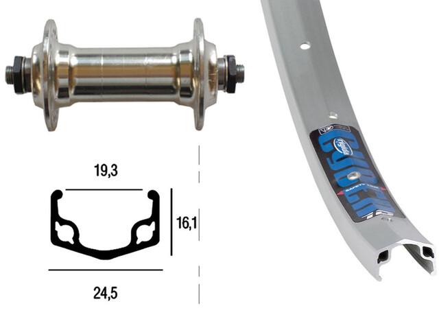 Silber Hinterrad 26x1.75 RM-30 8-fach SSP 36L Cyber 10