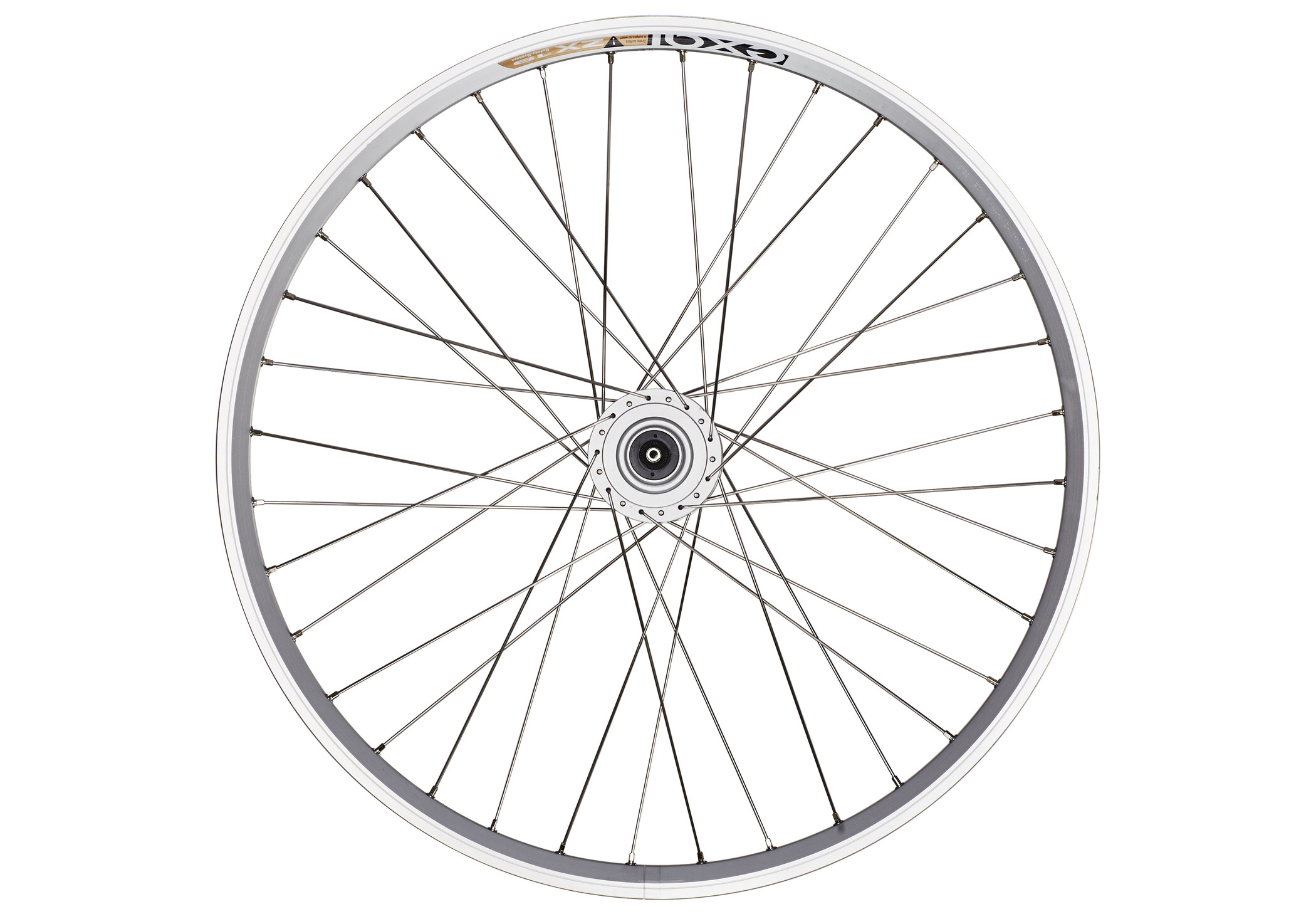 Exal Forhjul Hjul 26 x 1.75 26 x 1.75, Navdynamo, DH3N30, Quick release, 36L, silver (2019) | Wheelset