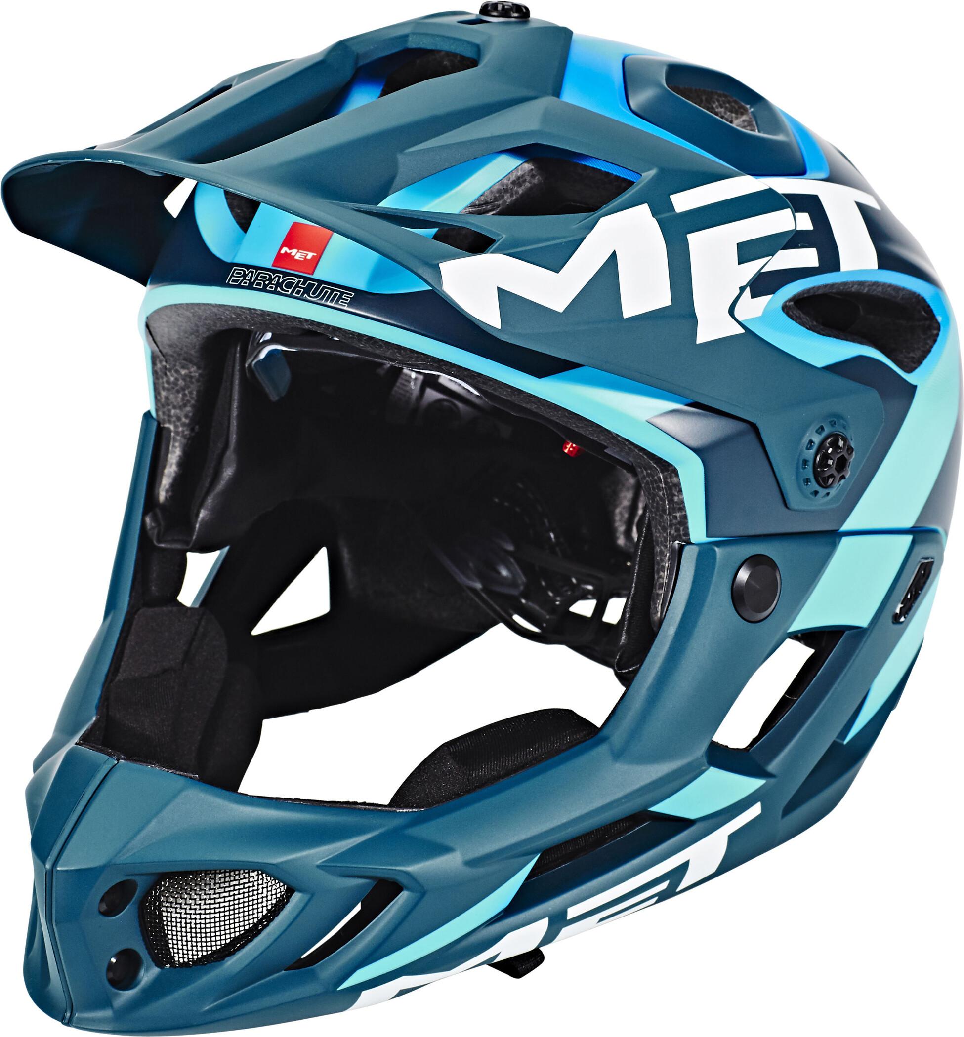 MET Parachute Cykelhjelm, blue/cyan (2019) | Helmets