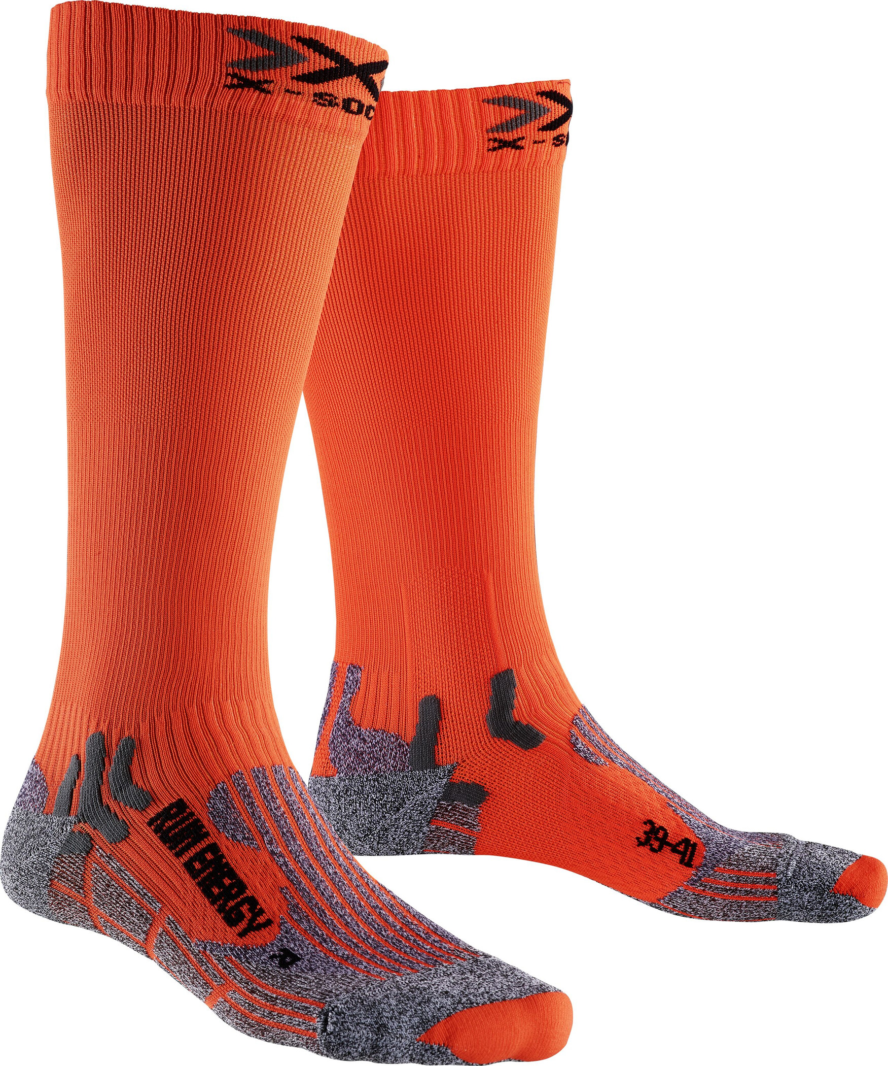 X-Socks Run Energizer Long Strømper, orange sunshine | Kompressionstøj