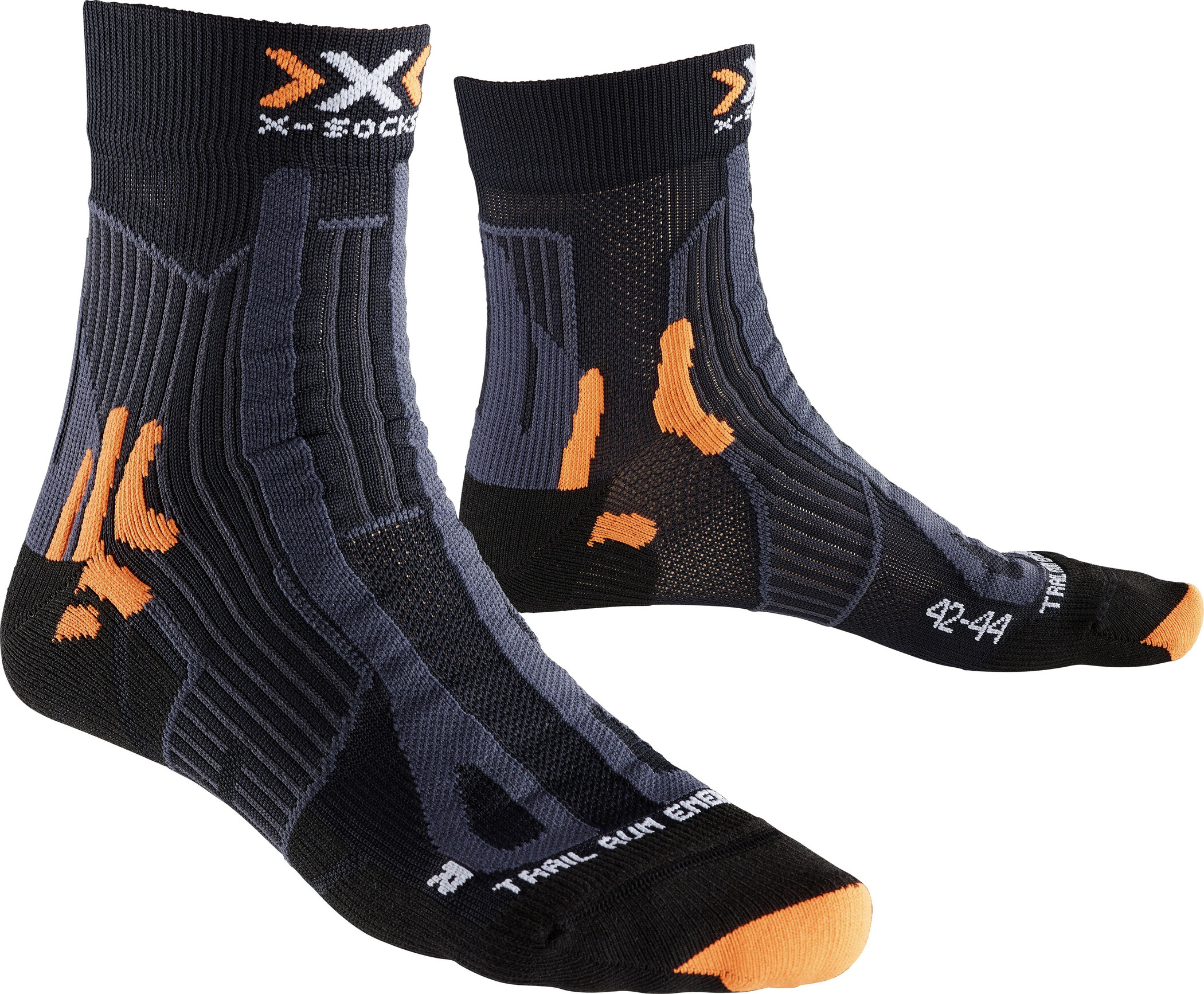 X-Socks Trail Run Energy Strømper Herrer, black/anthracite | Kompressionstøj