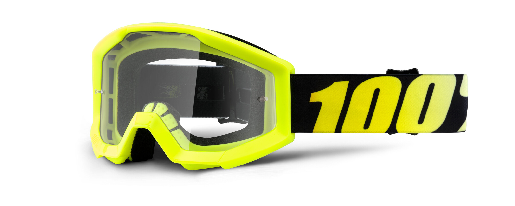 100% Strata Anti Fog Clear Goggles Børn, neon yellow (2019) | Glasses