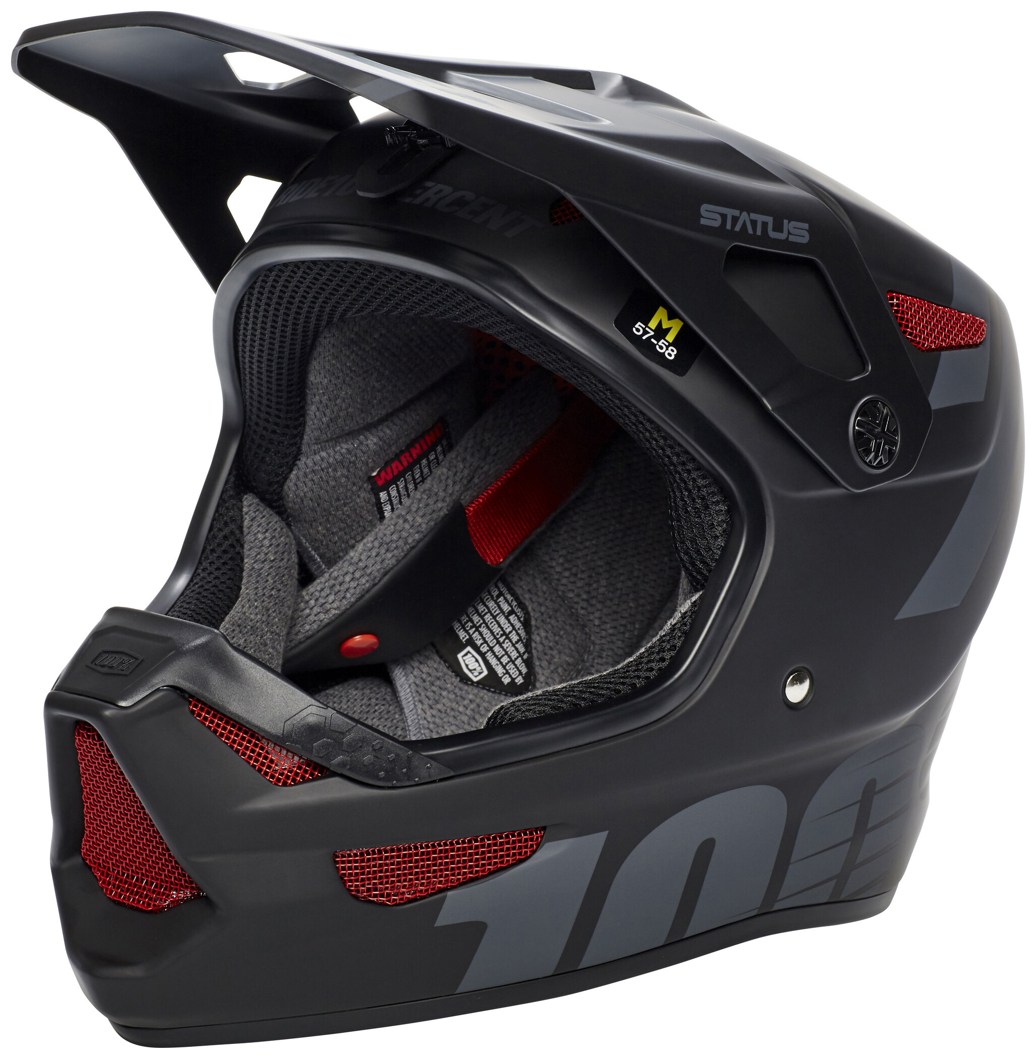 100% Status DH/BMX Cykelhjelm, black meteor (2019) | Helmets