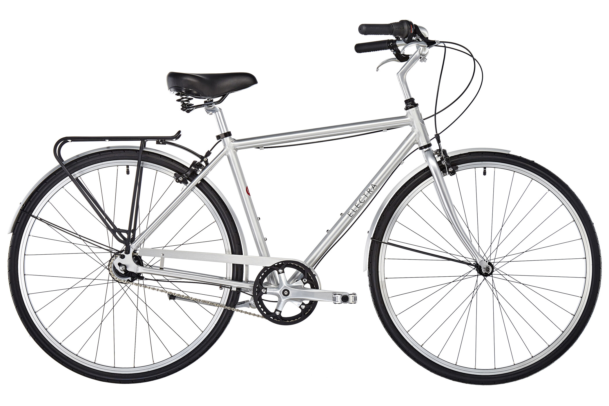 Electra Loft 7i Herrer, brushed aluminum | City-cykler