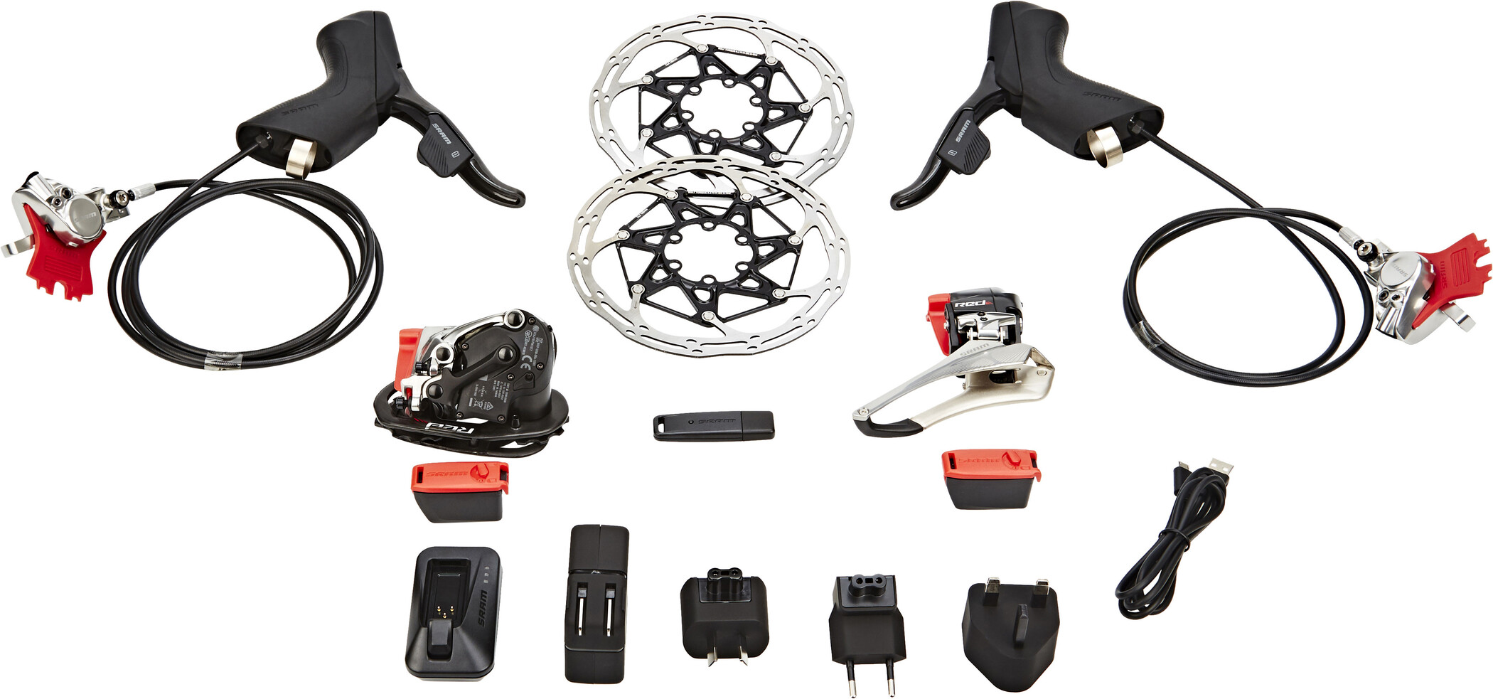 SRAM Red eTap HRD Upgrade Kit 2x11 Postmount | Computer Battery and Charger