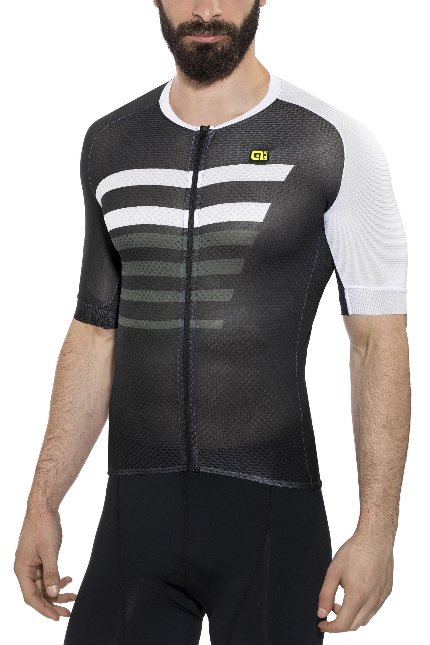 Alé Cycling PRR 2.0 Piuma Kortærmet cykeltrøje Herrer, black-white | Trøjer