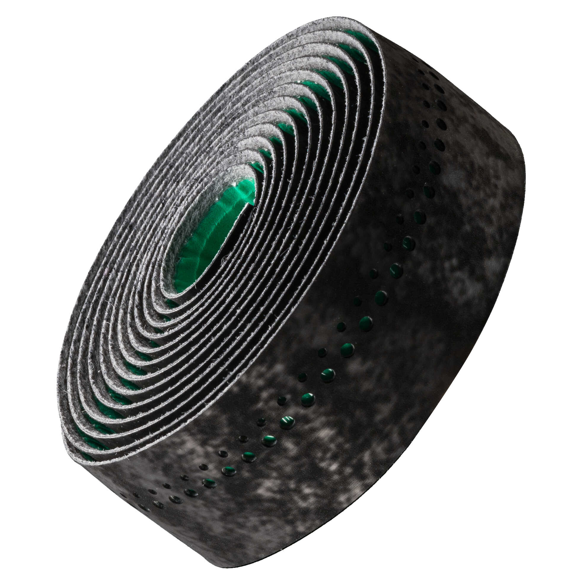 Bontrager Velvetack Styrbånd, black/green (2019) | Bar tape