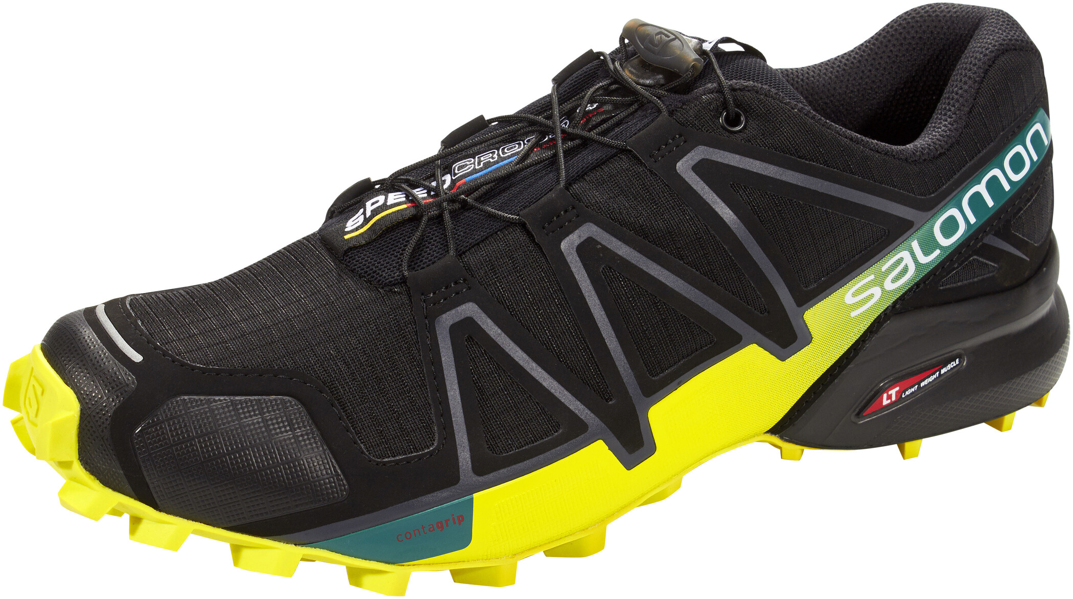 Salomon Speedcross 4 Løbesko Herrer, black/sulphur spring | Running shoes