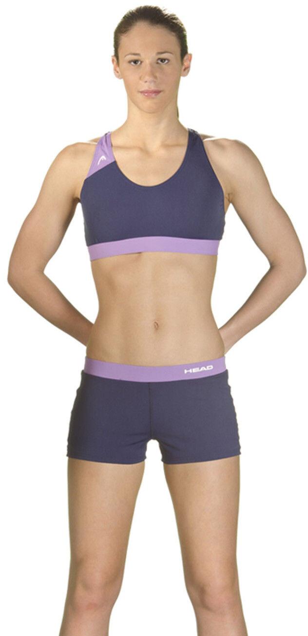 Head Splice Plus Bikini Damer, navy-lilla   Tri-beklædning