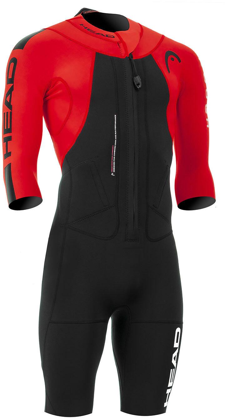 Head Swimrun Rough Shorty Suit Herrer, black-red (2019)   swim_clothes