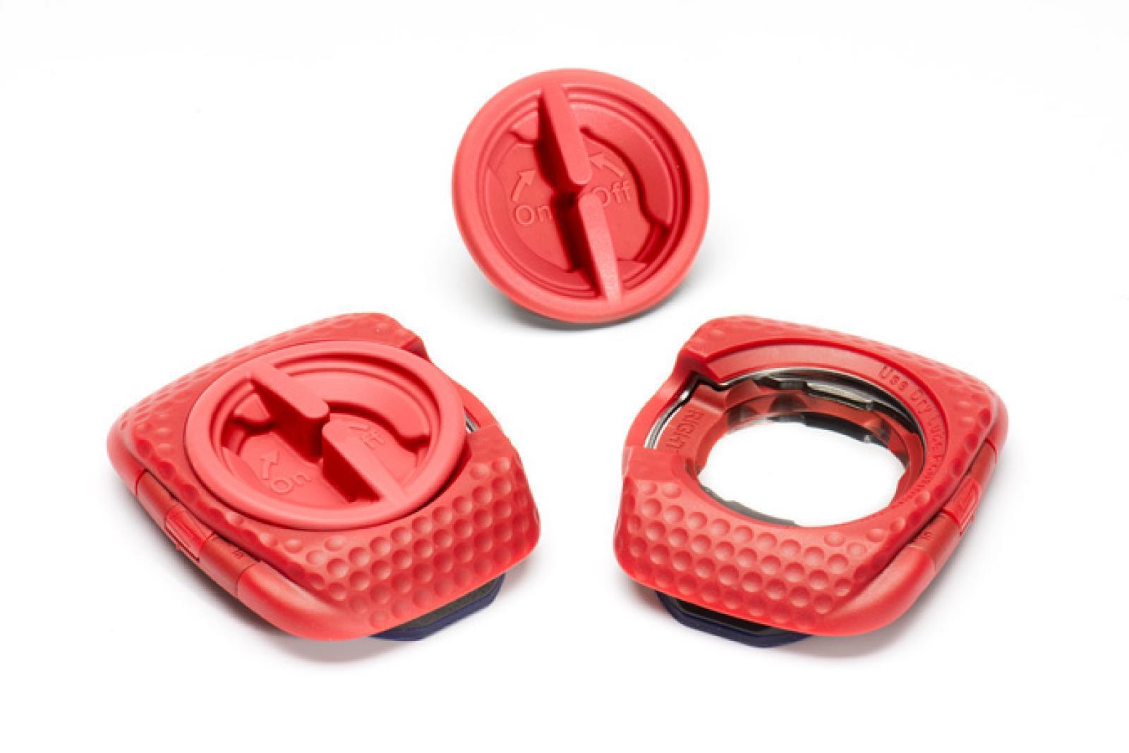 Speedplay Zero Pave Walkable Pedalplader, red | Pedaler