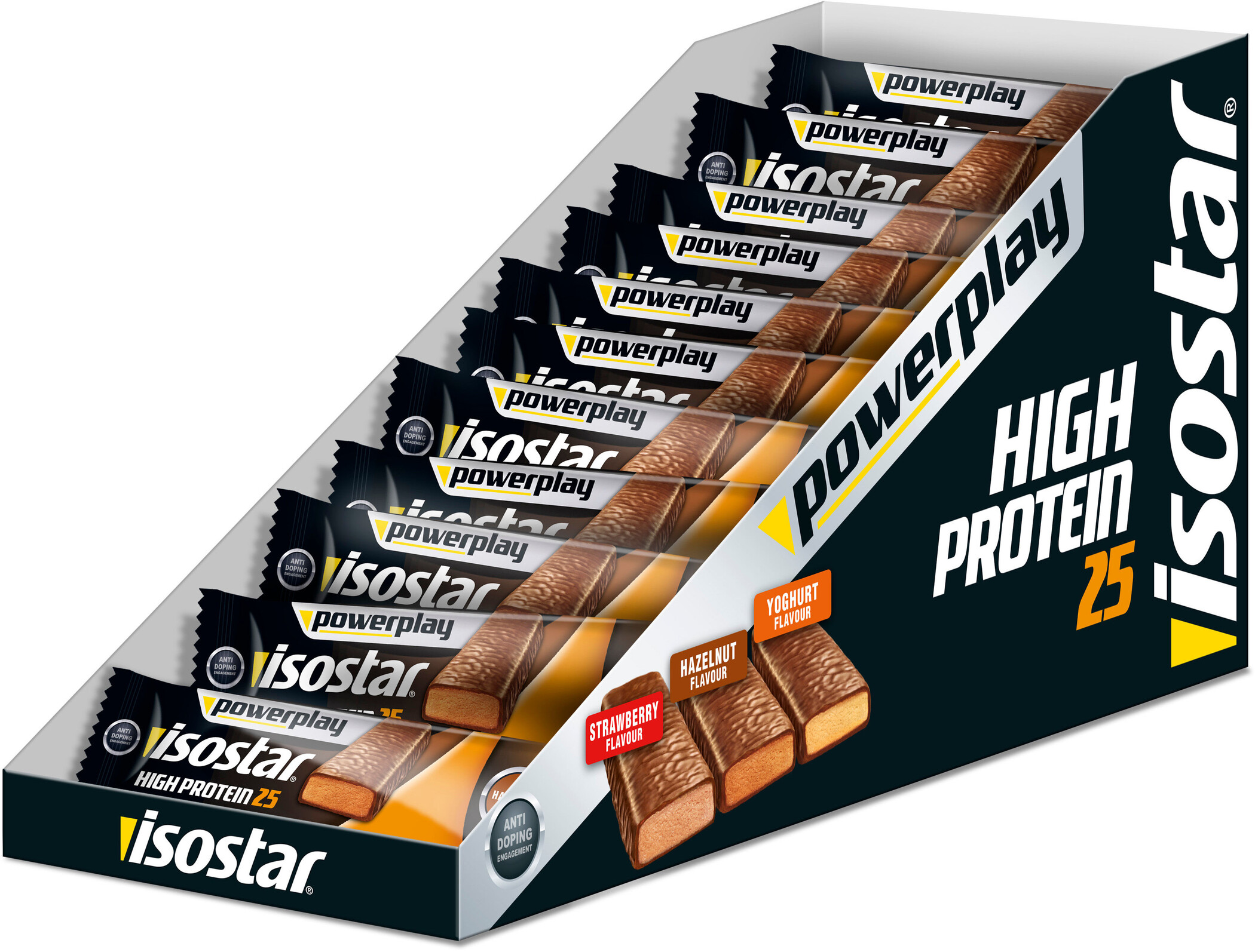 Isostar High Protein 25 Bar Box 30x35g, Hazelnut | Misc. Nutrition