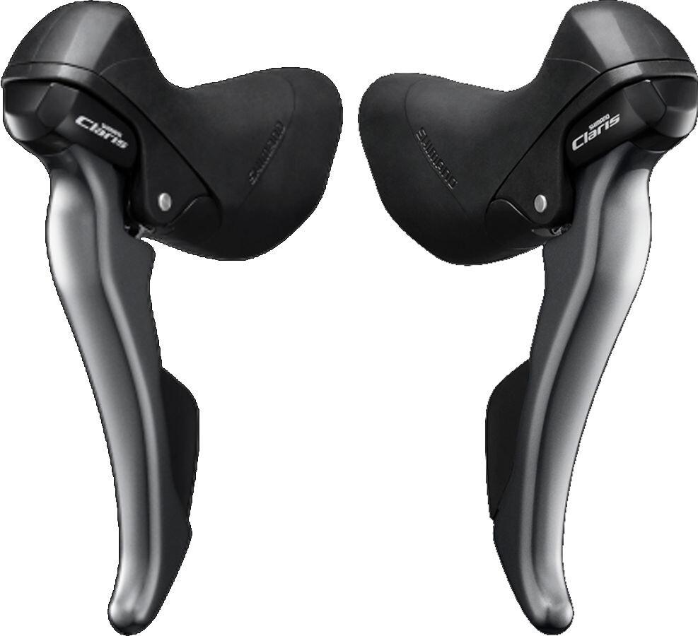 Shimano Claris ST-R2000/-R2030 Gearhåndtag sæt Par 2x8-speed, grey (2019) | Gear levers