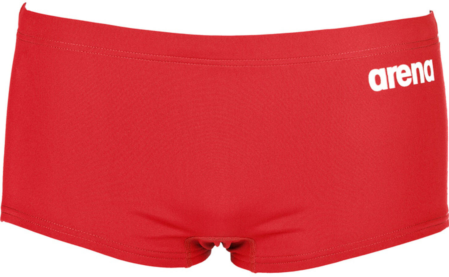 arena Solid Squared Shorts Herrer, red-white (2019) | swim_clothes