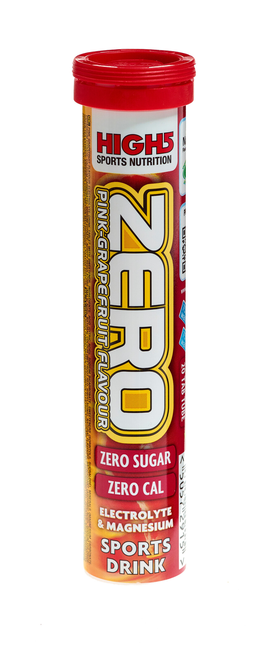 High5 Electrolyte Sports Drink Zero Tabs 20 Pieces, Pink Grapefruit   Tabs