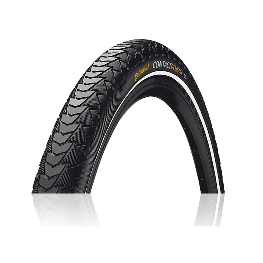 "Continental Contact Plus Travel E-25 Wired-on Tire 28"" Reflex, black (2019) 