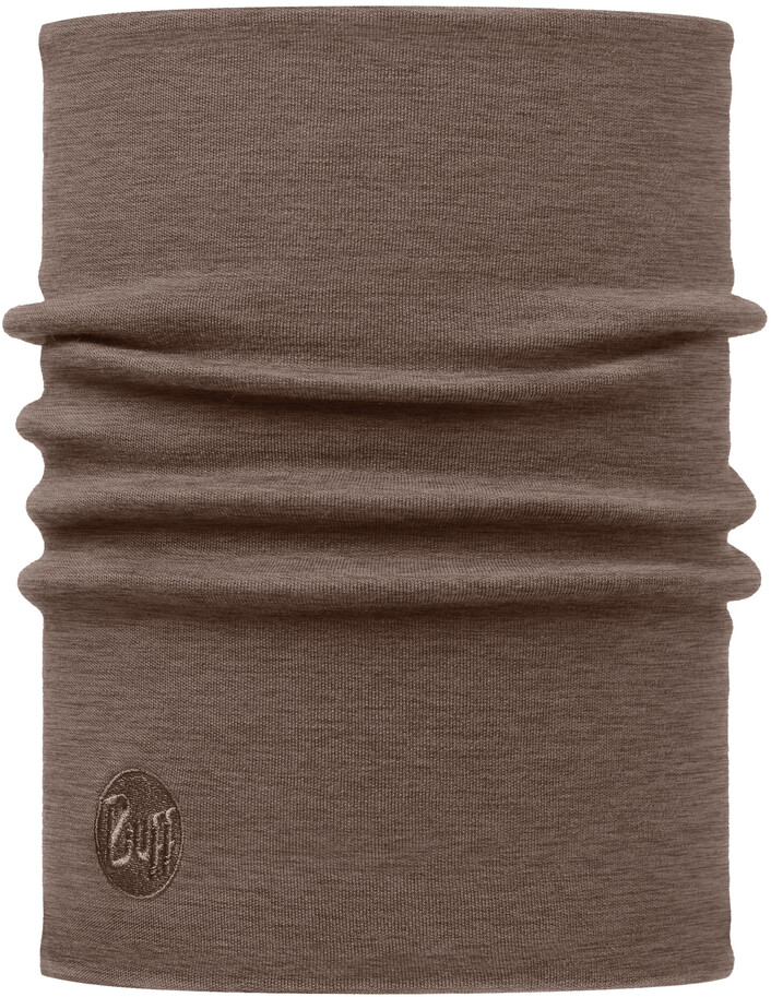 Buff Heavyweight Merino Wool Halsrør, solid walnut brown (2019) | Headwear