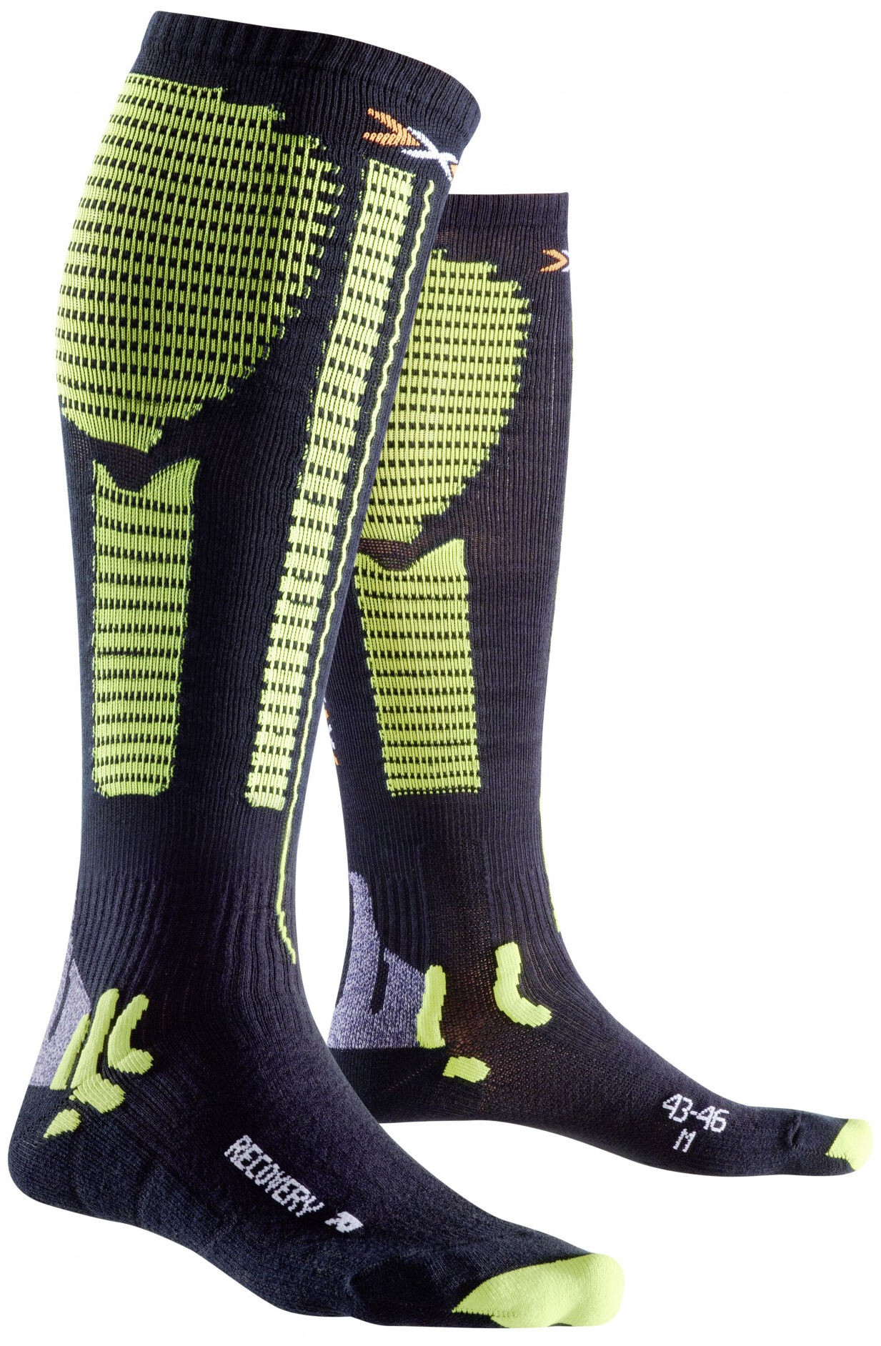 X-Bionic Precuperation Recovery Socks Herrer, black/acid green | Compression