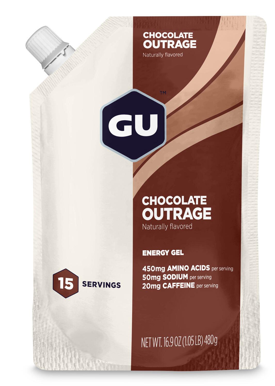 GU Energy Gel Bulk Pack 480g, Chocolate Outrage   Energy gels