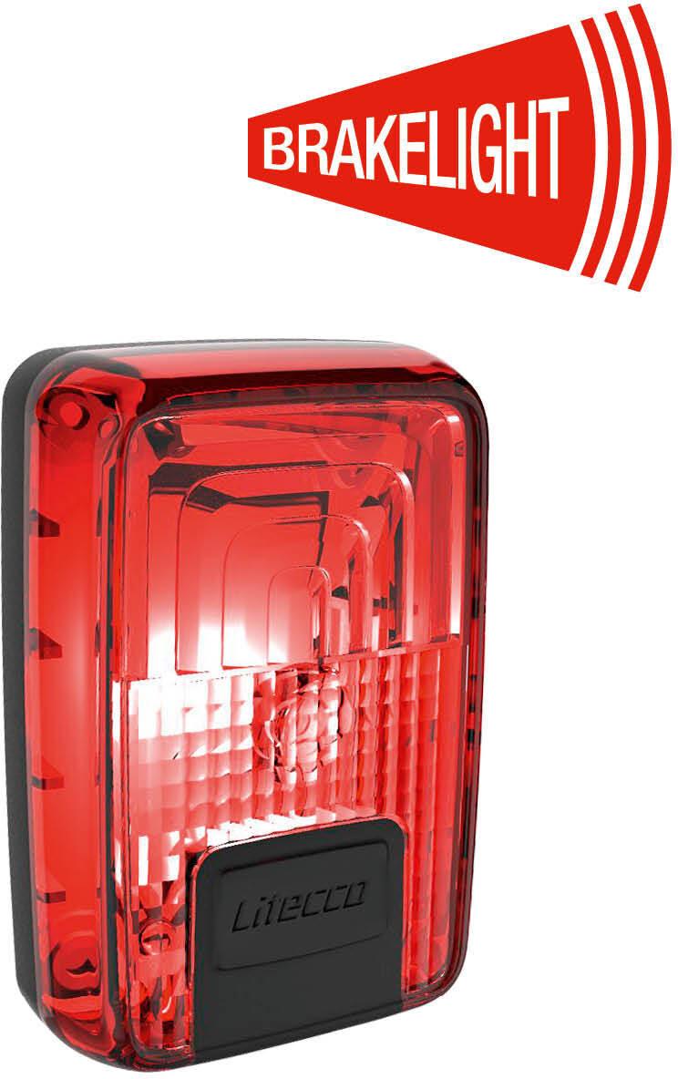 Litecco G-Ray Baglygte med bremselysfunktion, black/red (2019) | Rear lights