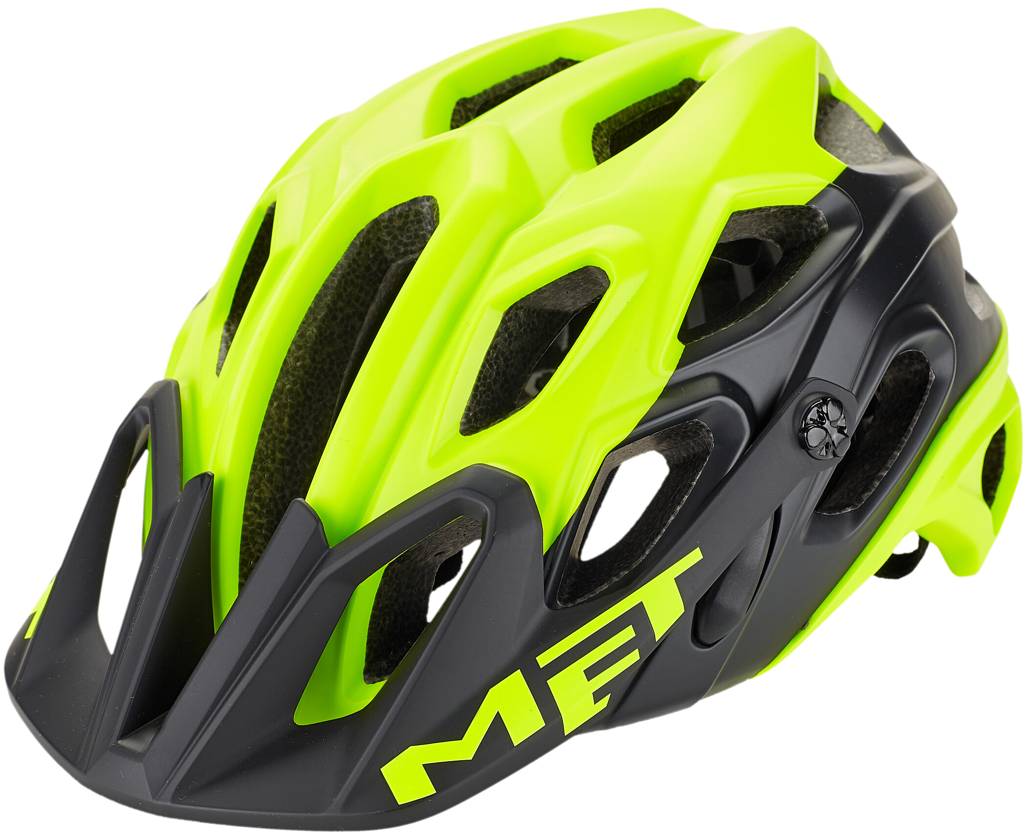 MET Lupo Cykelhjelm, matt safety yellow/black (2019) | Helmets