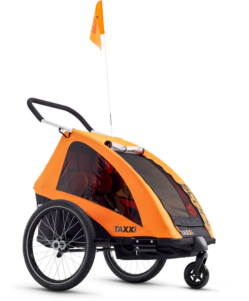 s'cool taXXi Pro Cykelanhænger til to, orange (2019) | bike_trailers_component
