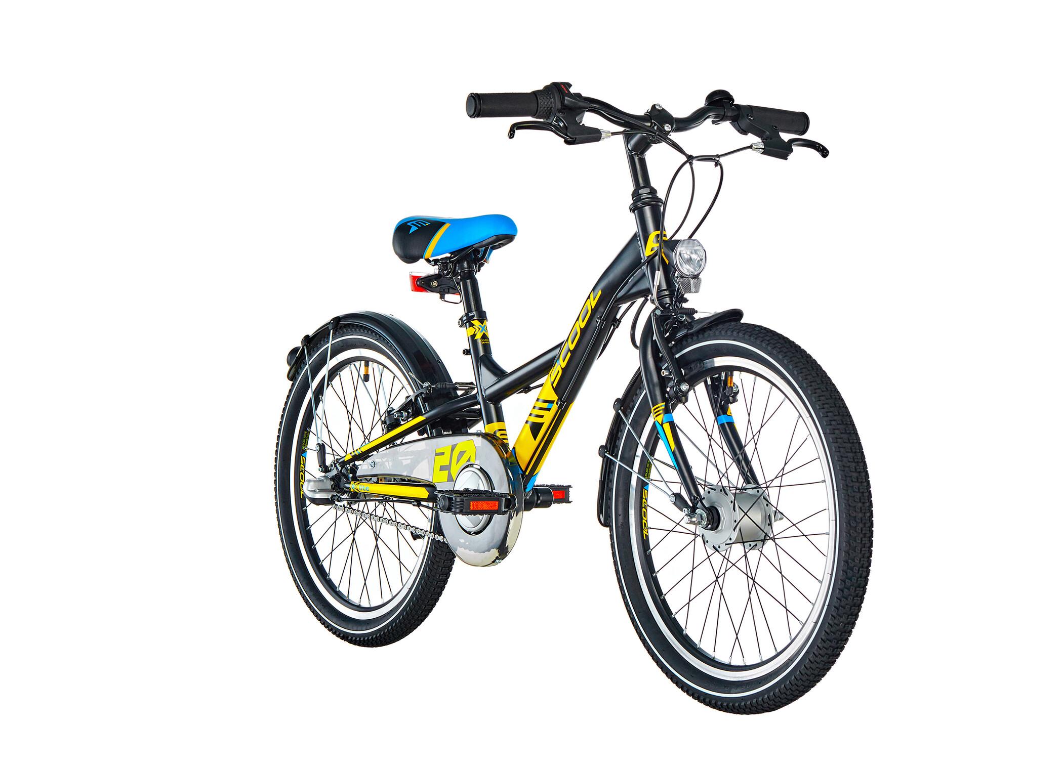 s'cool XXlite 20 3-S Steel Børn, black/yellow matt (2020) | City