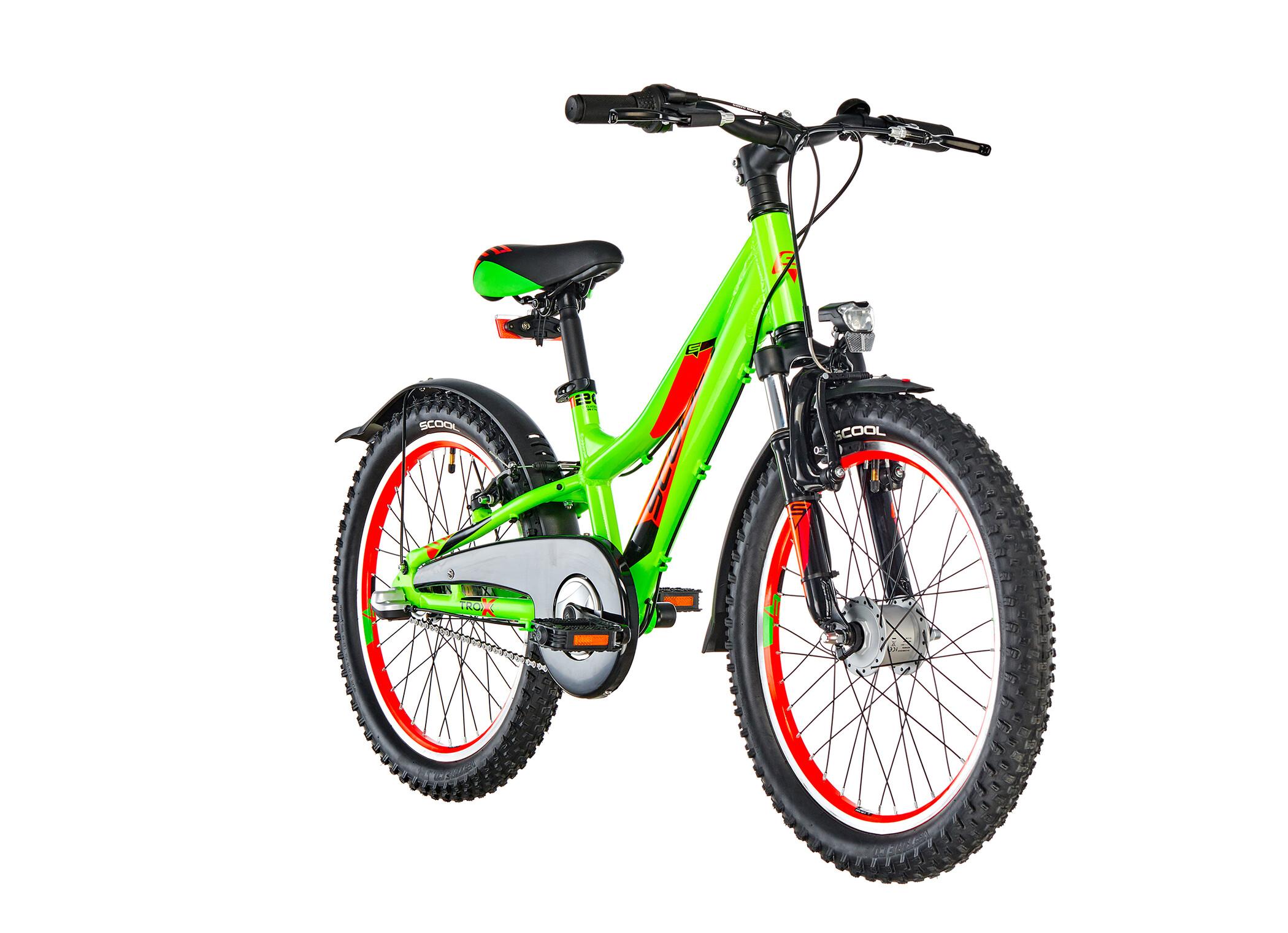 s'cool troX urban 20 3-S alloy Kids, neon green (2019) | City