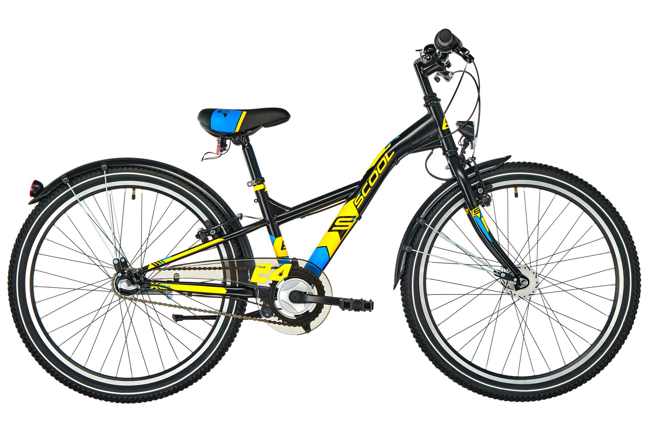 s'cool XXlite 24 3-S Steel Børn, black/yellow matt (2020) | City