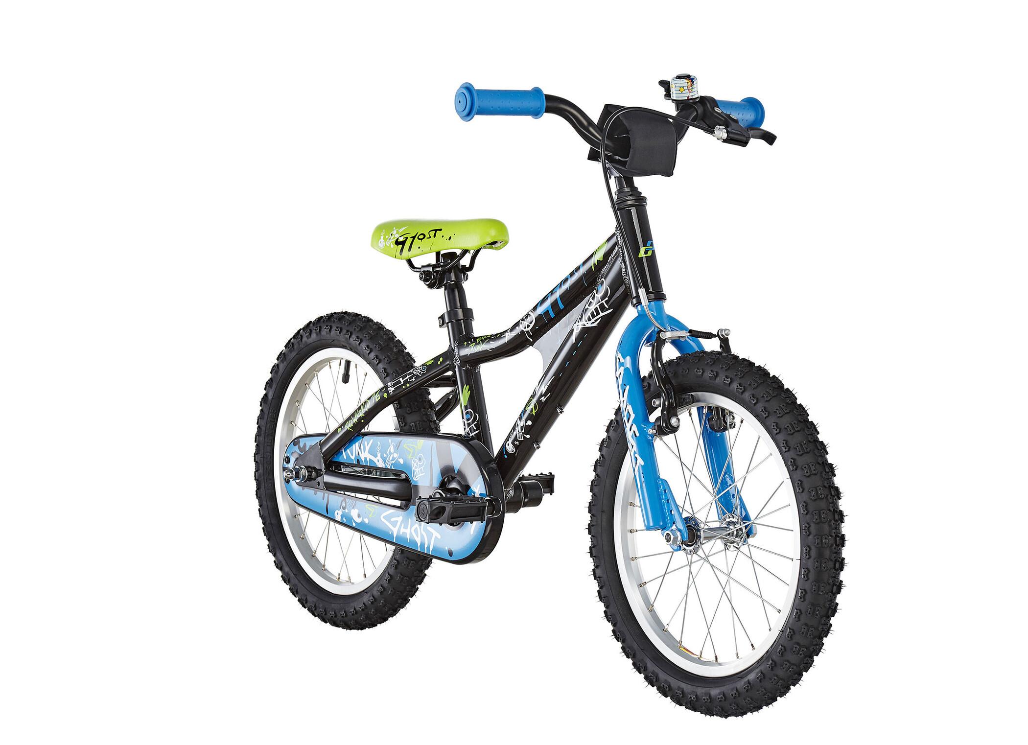 Ghost Powerkid AL 16 Børn, night black/riot blue/star white | City-cykler