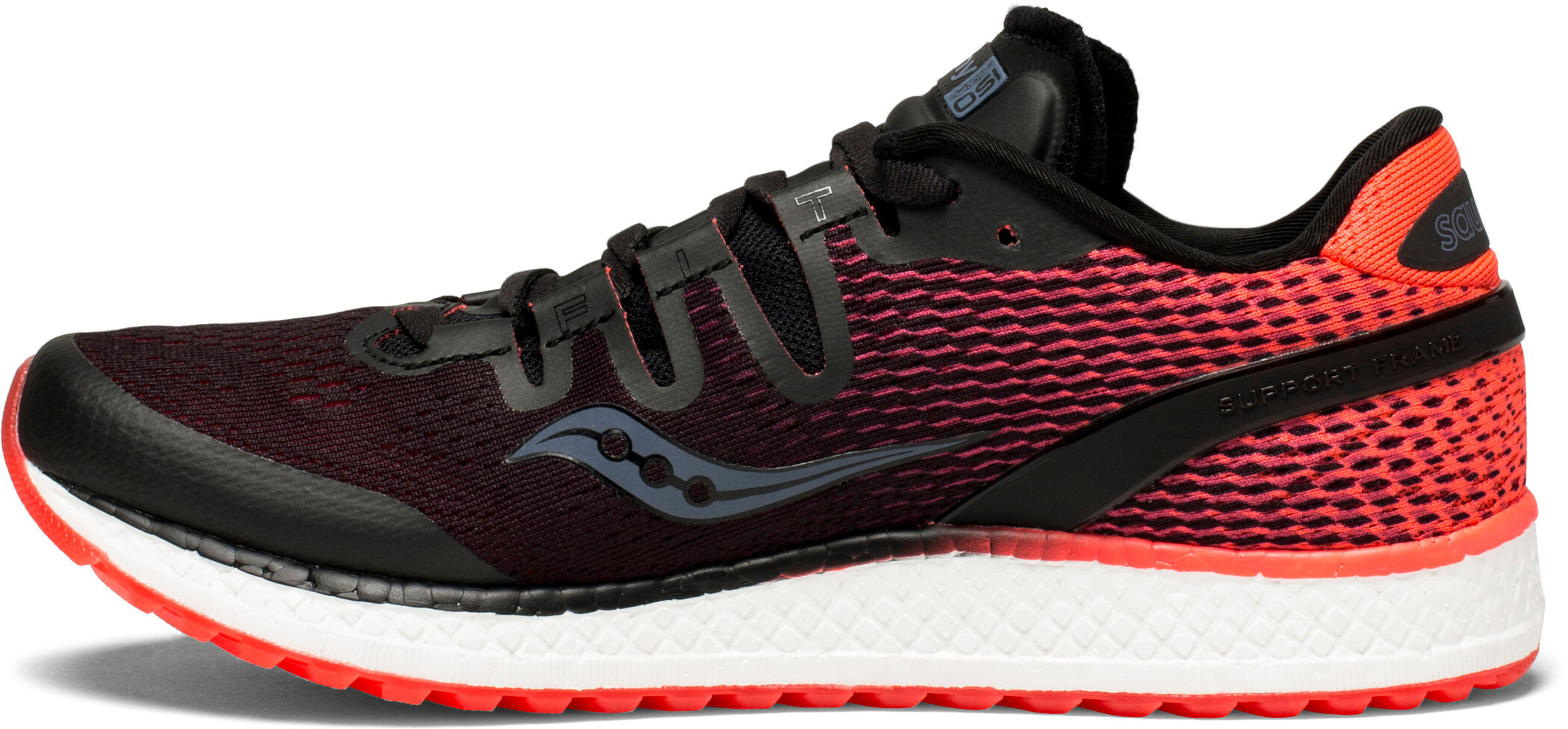 saucony Freedom ISO Løbesko Damer, black/vizipro red | Running shoes