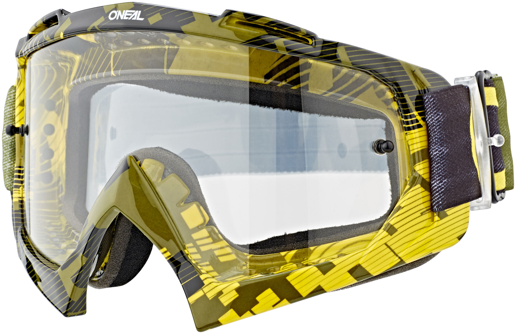 O'Neal B-10 Goggles, pixel neon yellow/green-clear | Briller