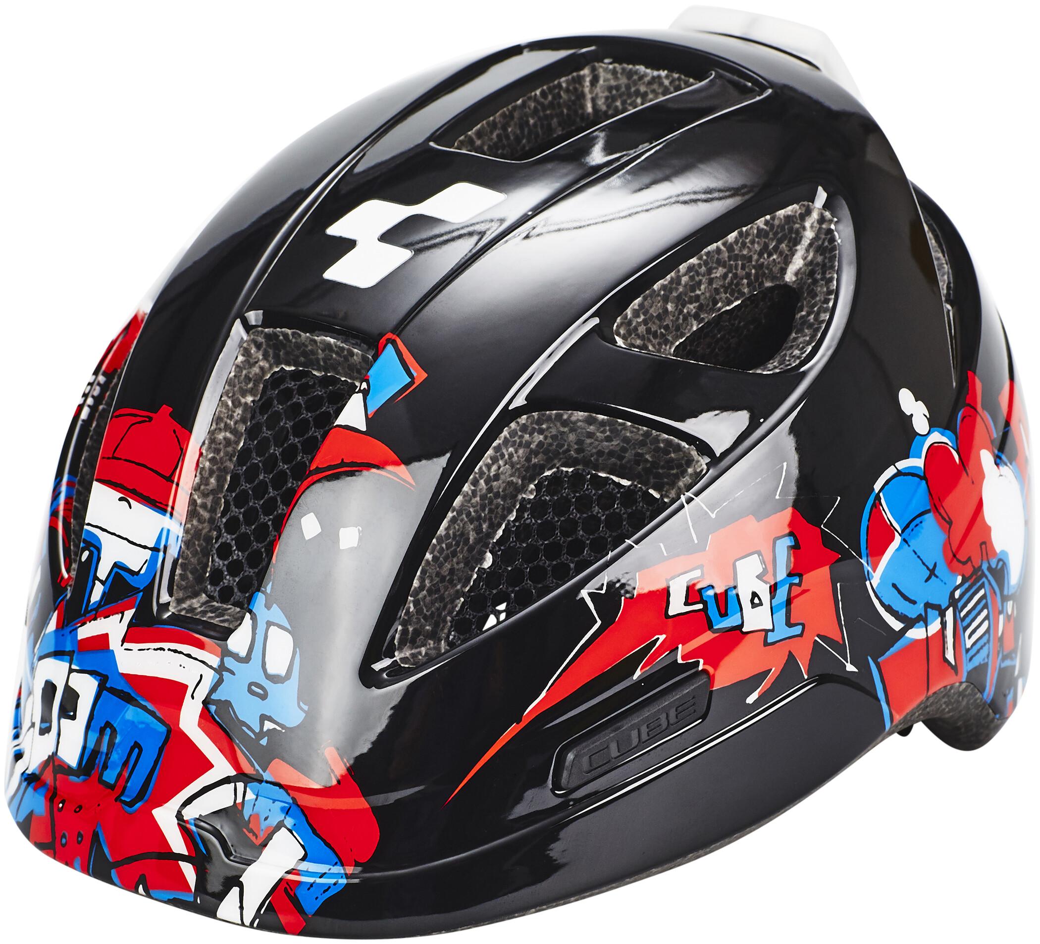 Cube Lume Cykelhjelm Børn, black grafitti (2019) | Helmets