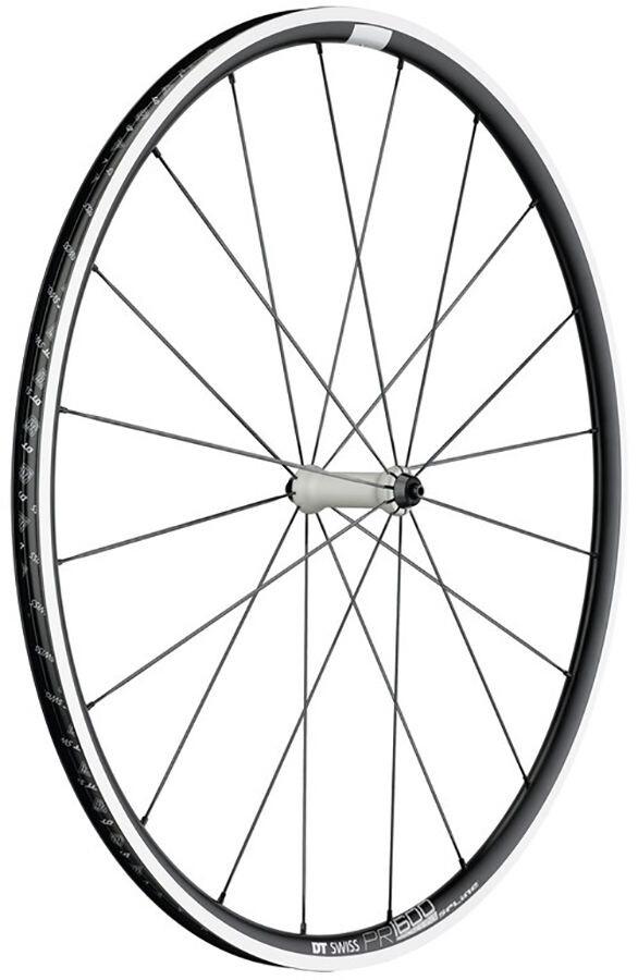 DT Swiss PR 1600 Spline 23 Forhjul Alu 100/5mm, black/white | Forhjul