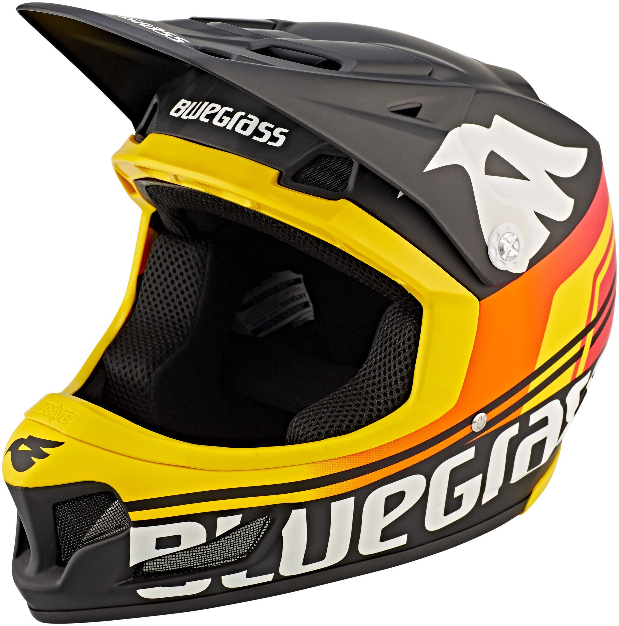 bluegrass Brave Cykelhjelm, matt black/orange/yellow (2019) | Helmets