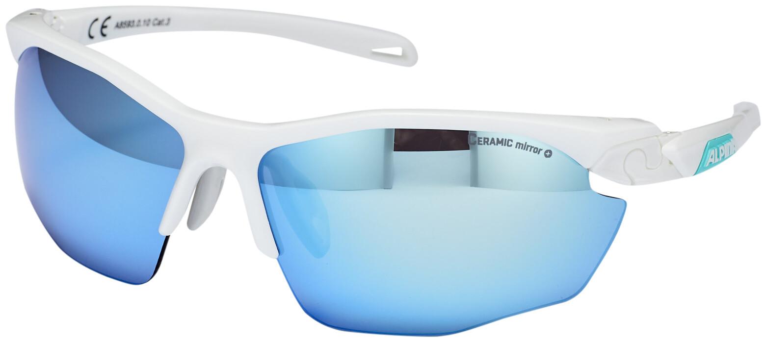 Alpina Twist Five HR CM+ Cykelbriller, white matt-emerald (2019)   Glasses