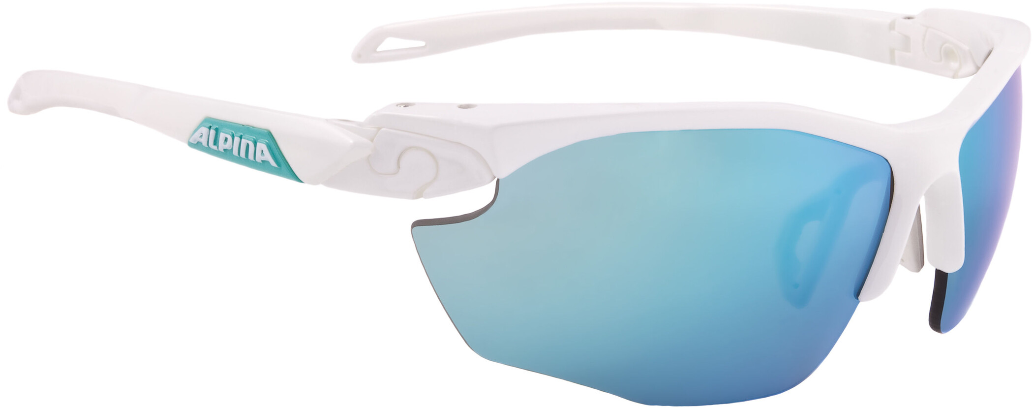 Alpina Twist Five HR CM+ Cykelbriller, white matt-emerald (2019) | Glasses